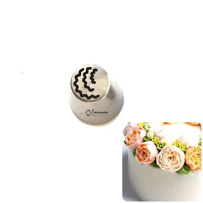 мини Насадка листик/лепесток E №180 Веер Лауры | М размер (mini Russian Leaf&Petal E Nozzle #180 Laura's Petals | М size | By Tulip Workshop)