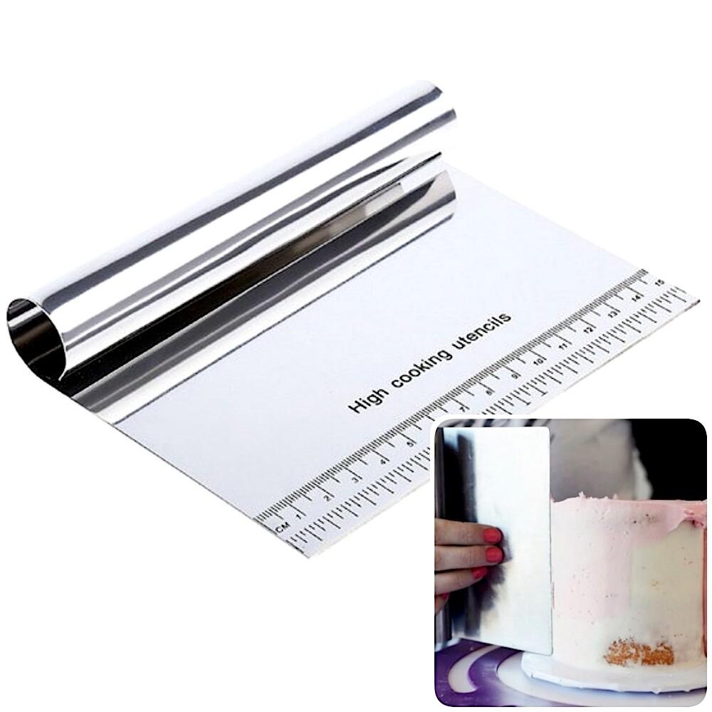 Кондитерский шпатель метал. прямой с ручкой | высота 13,15,20,22 см