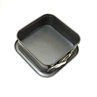 Форма для выпечки металлическая разъёмная антипригарная   мини Квадрат 12*12 см