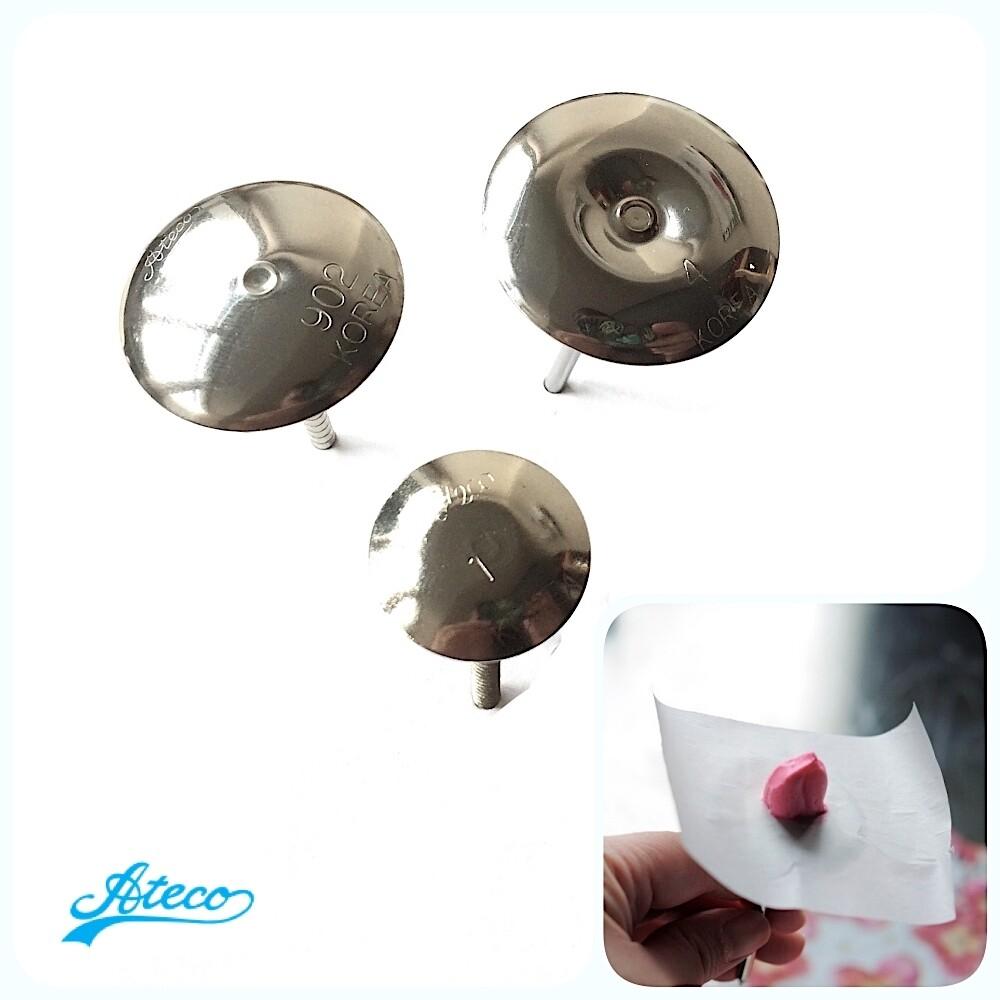 Кондитерские гвоздики от Ateco 901, 902, 904 | размер Ø 22, 30, 35 мм
