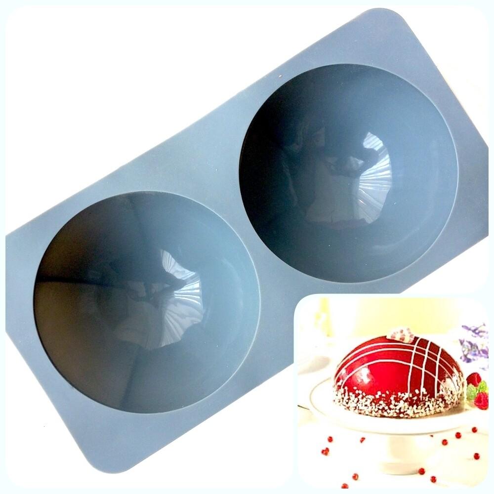 Силиконовая форма 3D для муссового торта | Сфера №9-2 фигуры ∅180 мм