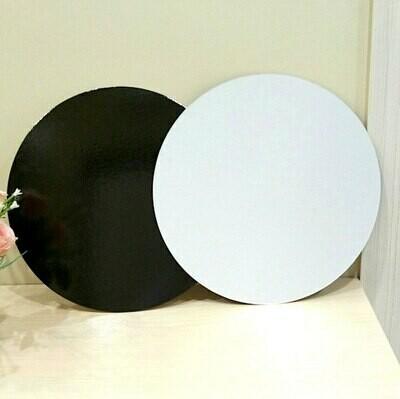 Подложка под торт двух-сторон. белая/чёрная толщина 1.5 мм Ø 24-30 см | упак. 10 шт