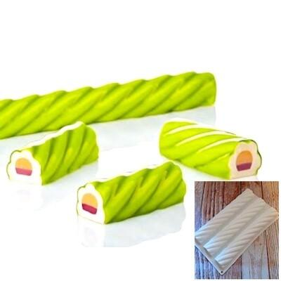 Силиконовая форма 3D для муссовых десертов | Кенди 3 ячейки