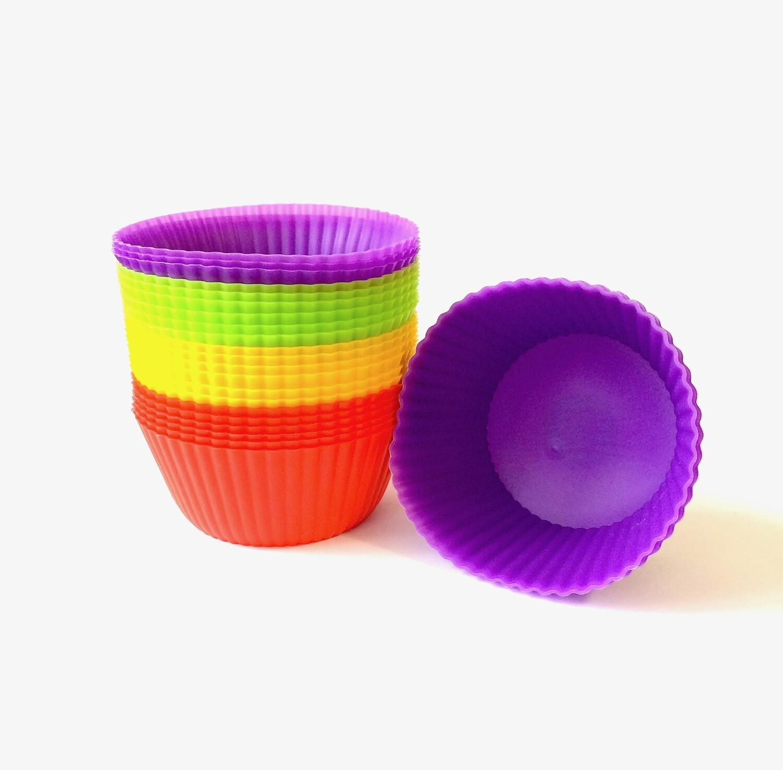 Форма для выпечки Капкейков силиконовая Ø 6.5  высота 4 см | набор 24 шт