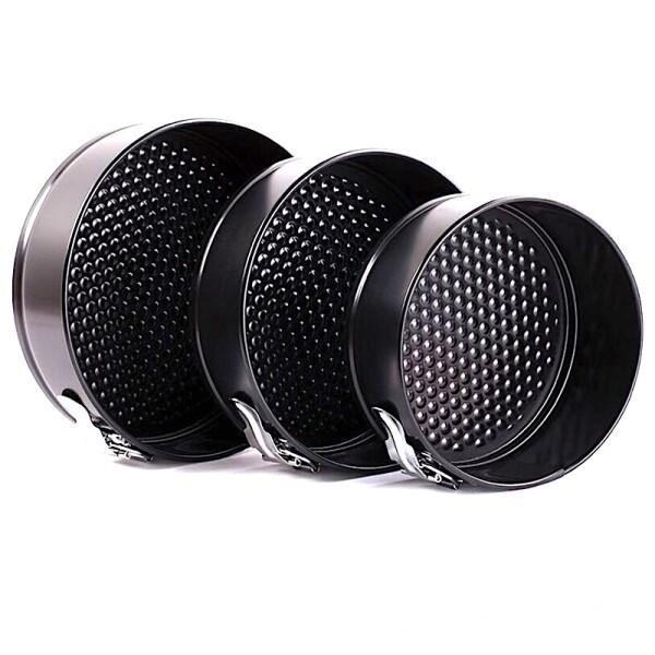 Форма для выпечки металлическая разъёмная антипригарная | Кольцо набор 3 шт: Ø 18, 20, 22 см, высота 7 см