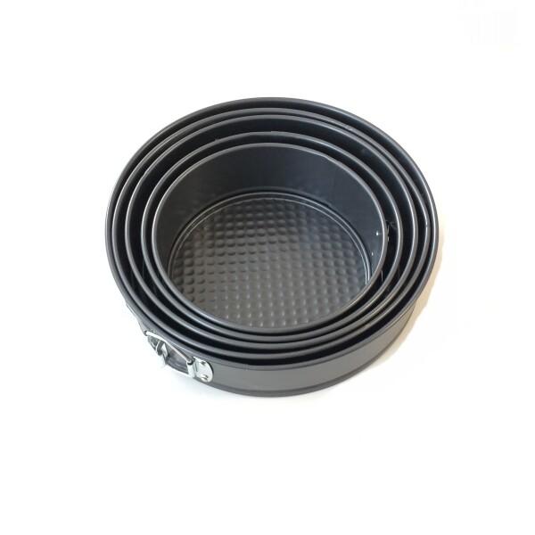 Форма для выпечки металлическая разъёмная антипригарная | Кольцо набор 6 шт: Ø 18-28 см, высота 7 см