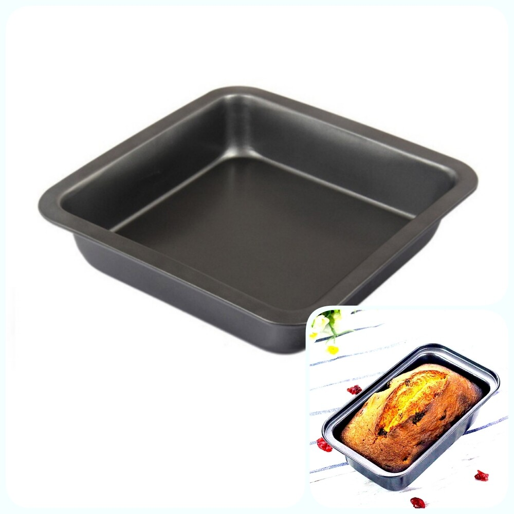 Форма для выпечки металлическая антипригарная | Прямоугольная, высота 4.5 см