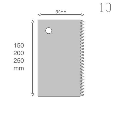 Кондитерский шпатель прямой/зубчики (2 в 1) 15, 20 см | Мастерская Тюльпан