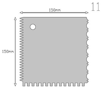 Кондитерский шпатель фигурный квадрат (4 в 1) 15*15 см | Мастерская Тюльпан