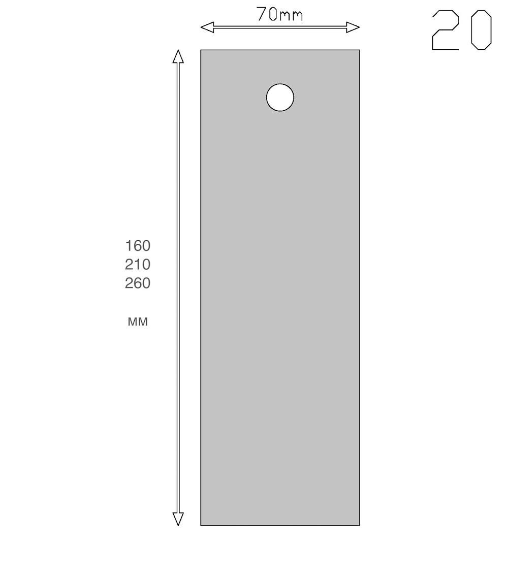 Кондитерский шпатель прямой 16, 21, 26 см   Мастерская Тюльпан