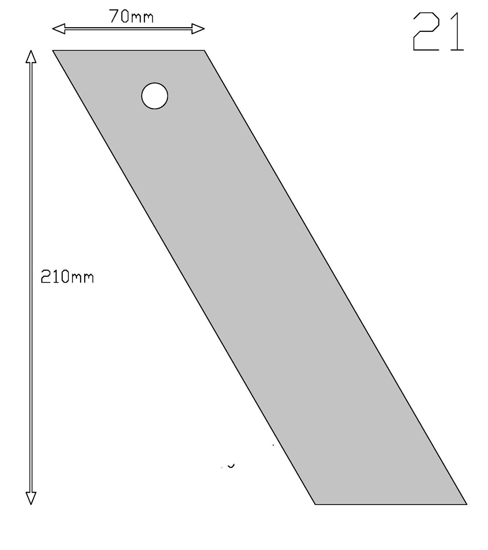 Кондитерский шпатель угловой 21 см | Мастерская Тюльпан