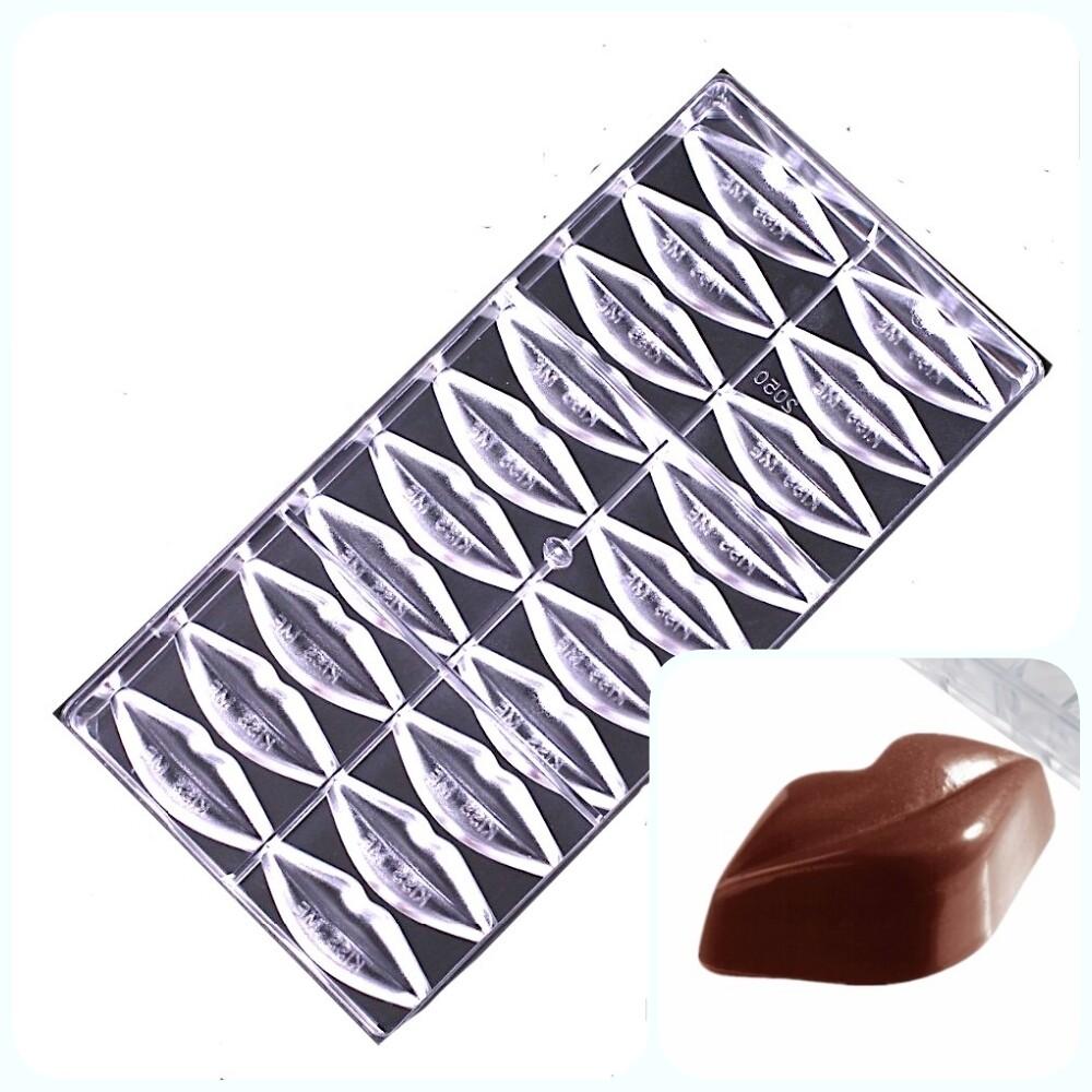 Поликарбонатная форма для шоколада 275*135*24 мм | Губы (м) мод.2050