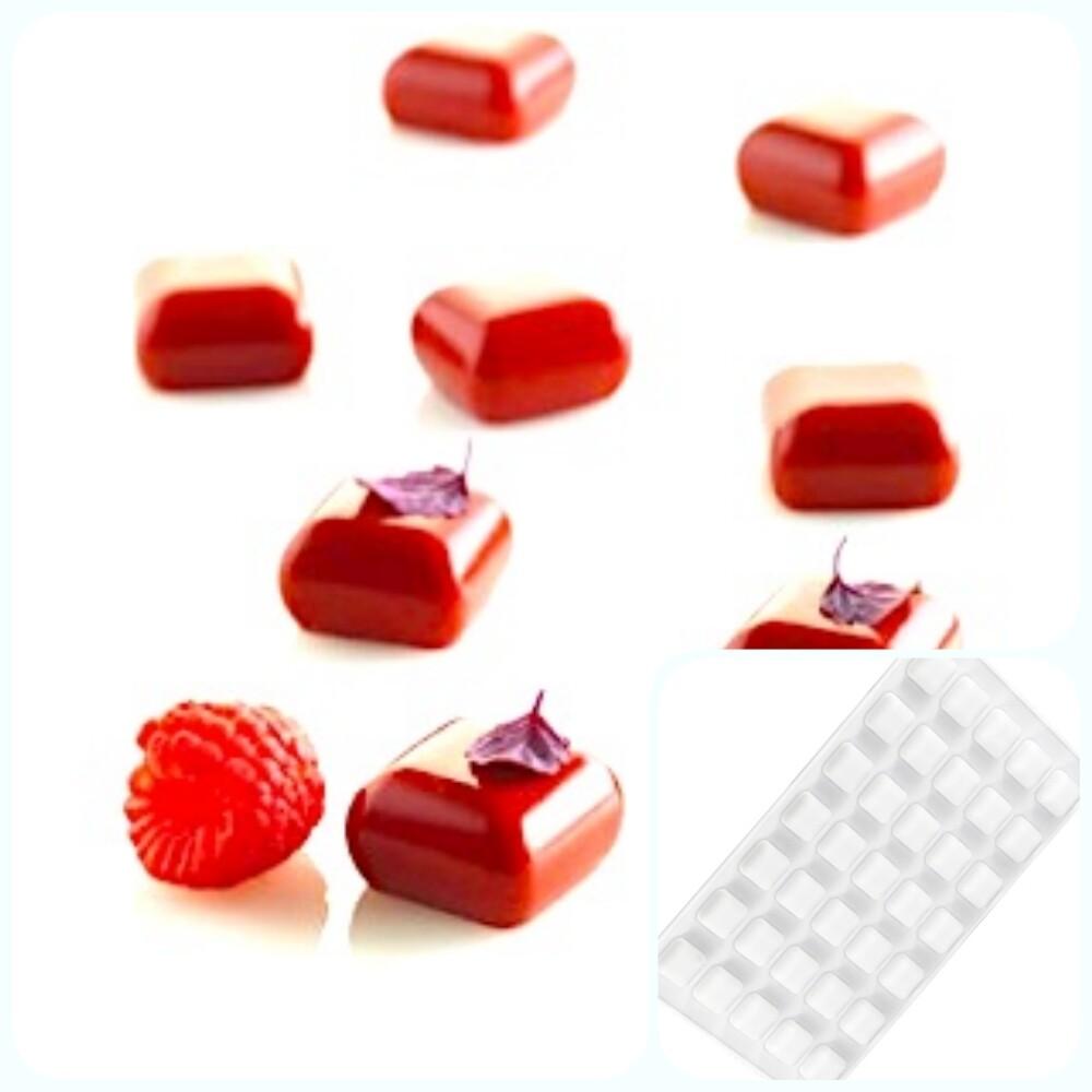 Силиконовая форма 3D для муссовых десертов и декора | Камень (gem) мини 35 ячеек