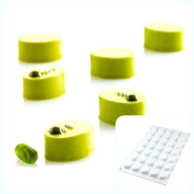 Силиконовая форма 3D для муссовых десертов и декора | Овал (Oval) мини на 35 ячеек