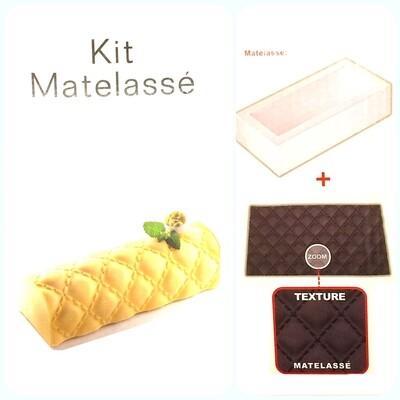 Силиконовая форма +текстурный мат (набор) для муссовых тортов | Мателас