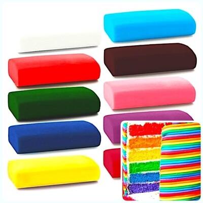Сахарная Мастика 0.1 кг универсальная Цветная