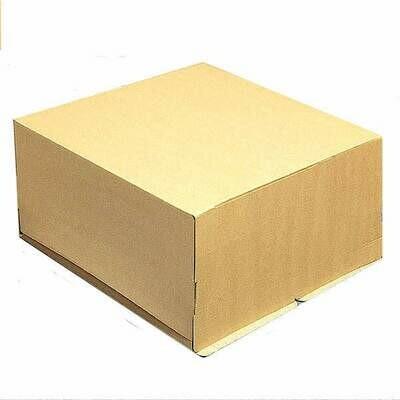 Коробка для торта 30*30*19 см Бурая (крафт) | упак 10-50 шт
