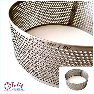 Формы для выпечки нерж.сталь перфорир.| Кольцо (высота 8 см, Ø 14-30 см)