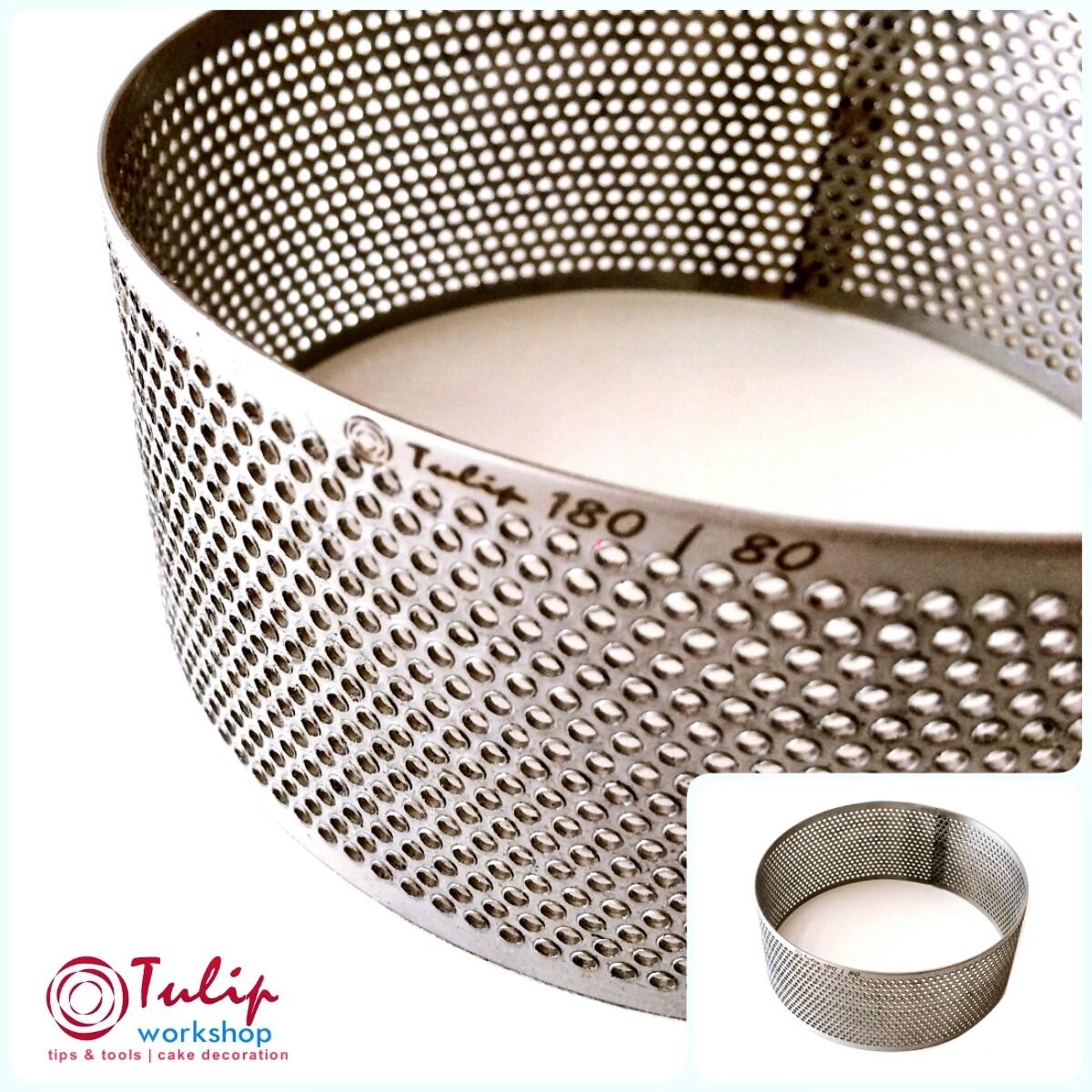 Формы для выпечки нерж.сталь перфорир.  Кольцо (высота 6 см, Ø 14-30 см)