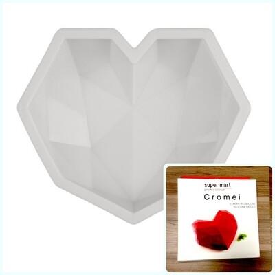 Силиконовая форма 3D для муссового торта | Бриллиантове Сердце ∅140 мм