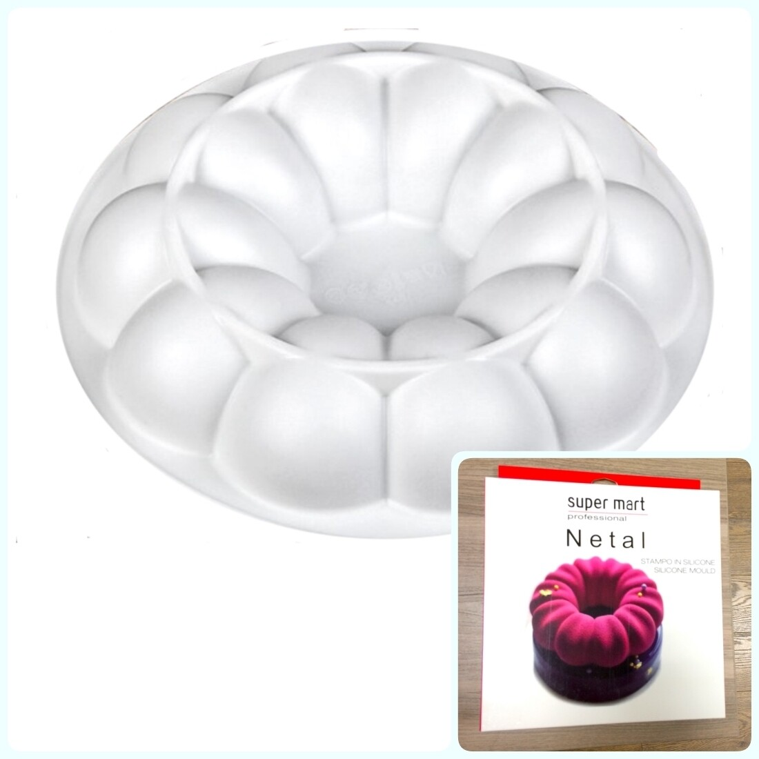 Силиконовая форма 3D для муссового торта | Нетал ∅165 мм