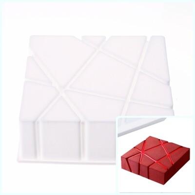 Силиконовая форма 3D для муссового торта | Камень 170*170 мм