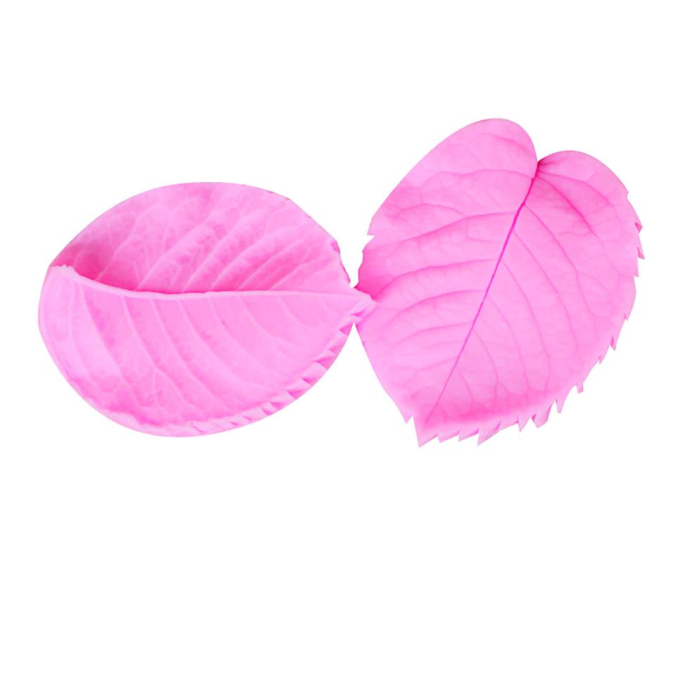 Молд силиконовый (вайнер) Листья Розы