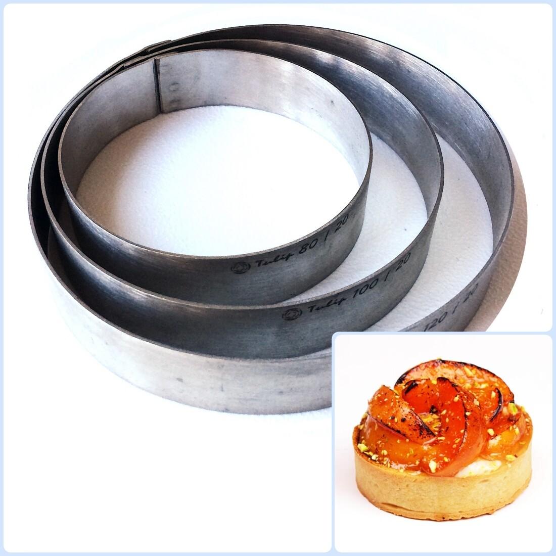 Формы для выпечки нерж.сталь | Кольца (высота 2 см, Ø 8-30 см)