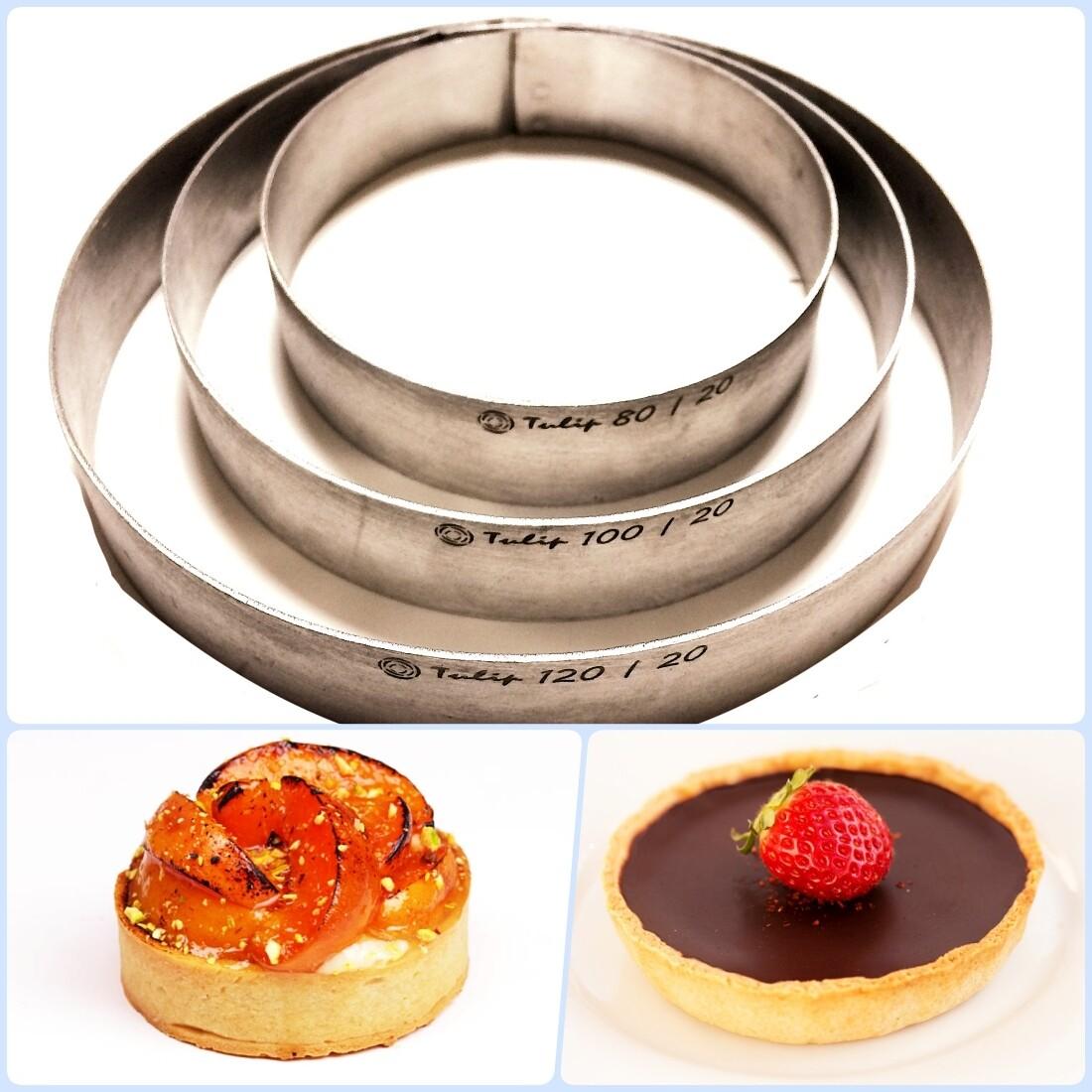 Формы для выпечки нерж.сталь | Кольца (высота 3 см, Ø 8-30 см)