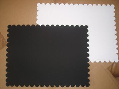 Подложка под торт двух-сторон. белая/чёрная толщина 1.5 мм Квадрат | упак. 10 шт