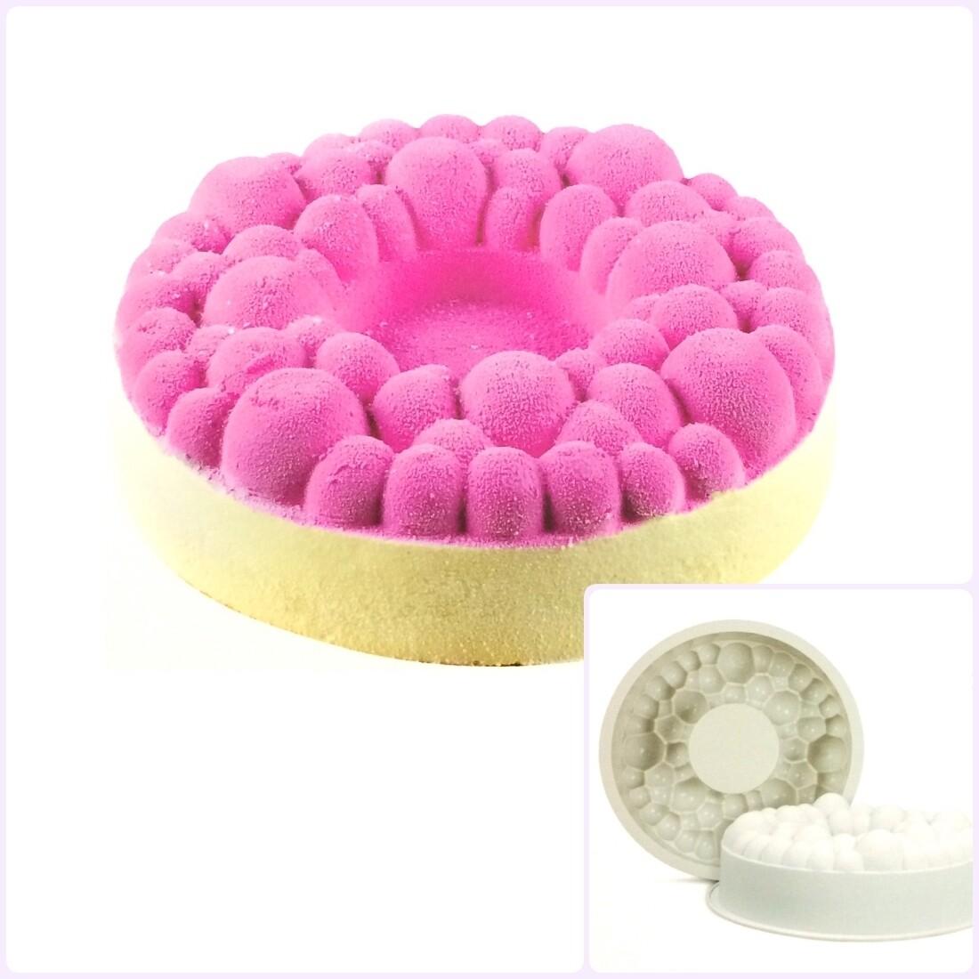 Силиконовая форма 3D для муссового торта | Баблс ∅240 мм