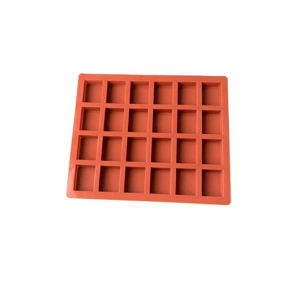 Форма для выпечки силиконовая Пирожные Буше мини 24 фигуры