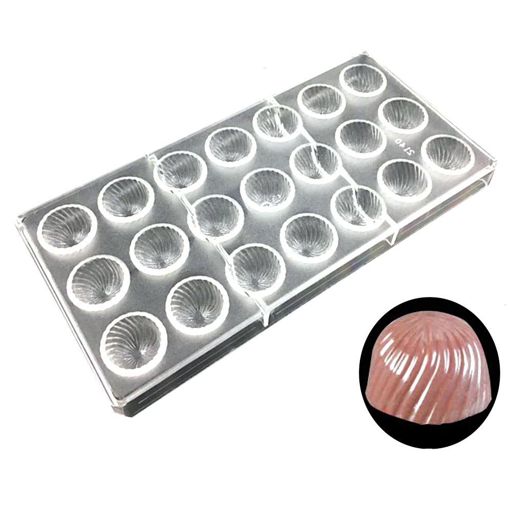 Поликарбонатная форма для шоколада 275*135*24 мм   Купол мод.2140 (эконом)