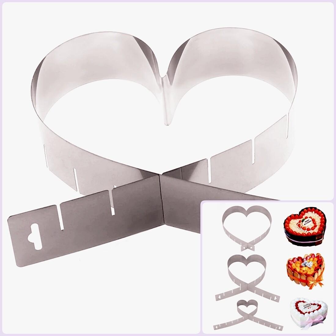 Форма для выпечки металлическая разъёмная | Сердце 12-26 см