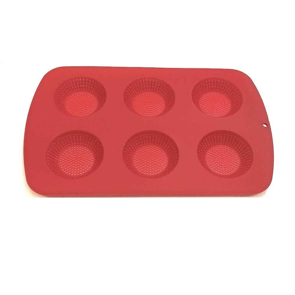 Форма силиконовая перфорир. 6 ячеек Бриош | 360*230*25 мм