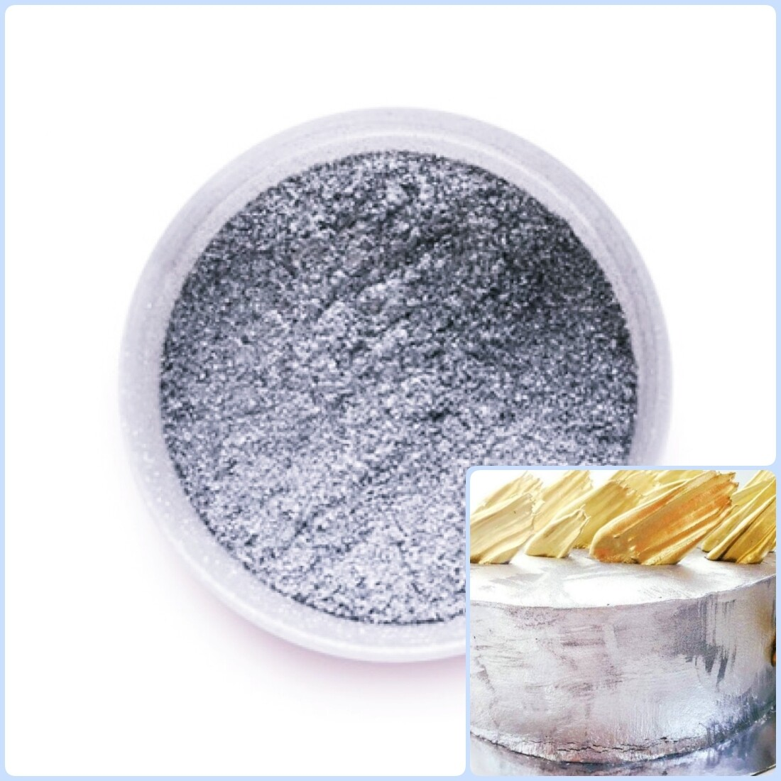 Краситель сухой Серебряный блеск 5 гр. | Candurin®
