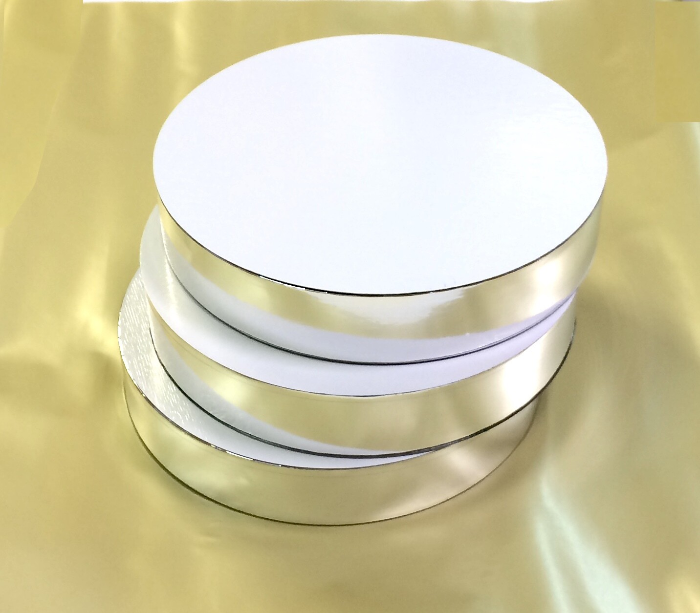 Поднос под торт двух-сторон. толщина 50 мм   Ø 22-30 см Piccardy™ (СрЛ)