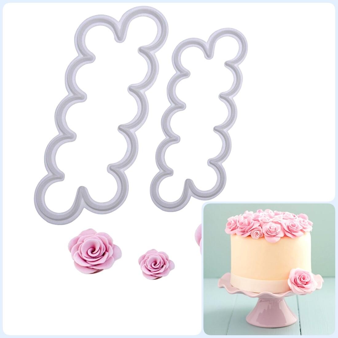 Вырубка лепестки Розы   Набор 2 шт