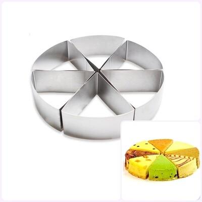 Формы для выпечки стальные Набор | Кольцо из 6-ти Треугольников (200 мм, высота 45 мм)