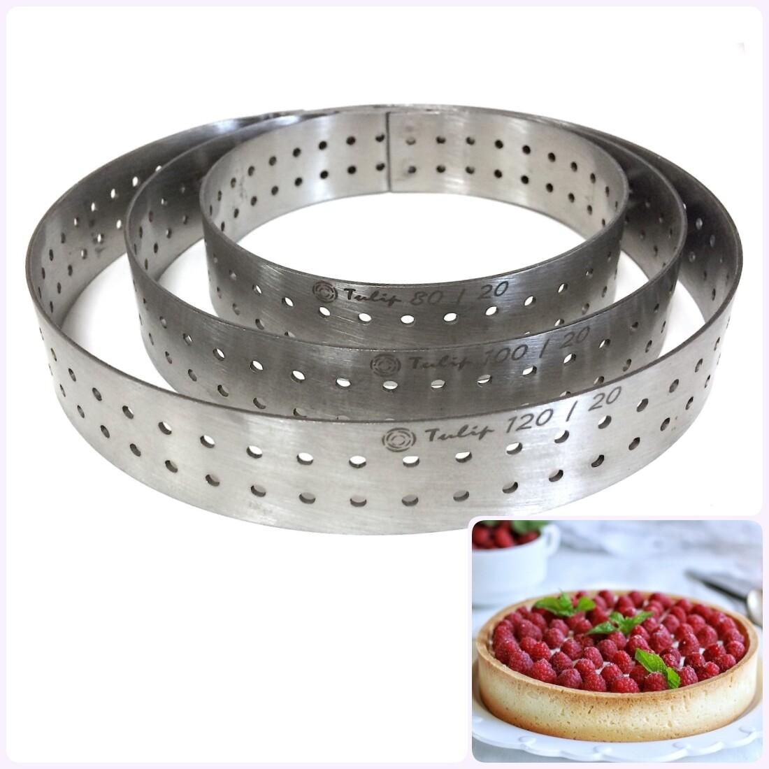 Формы для выпечки нерж.сталь перфорир.   Кольца (высота 2 см, Ø 8-30 см)