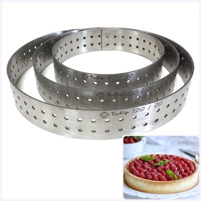 Формы для выпечки нерж.сталь перфорир. | Кольца (высота 2 см, Ø 8-30 см)
