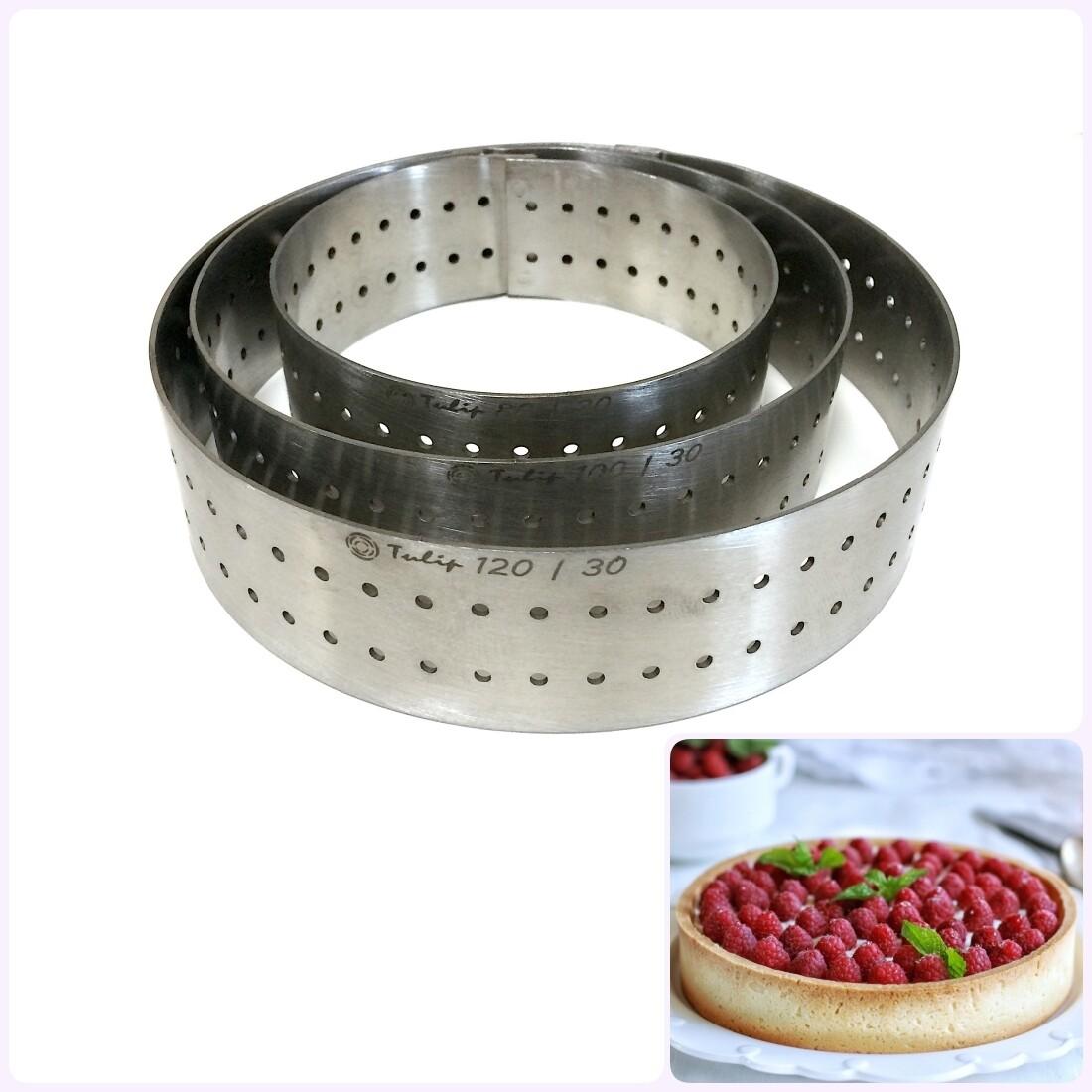 Формы для выпечки нерж.сталь перфорир. | Кольца (высота 3 см, Ø 8-30 см)