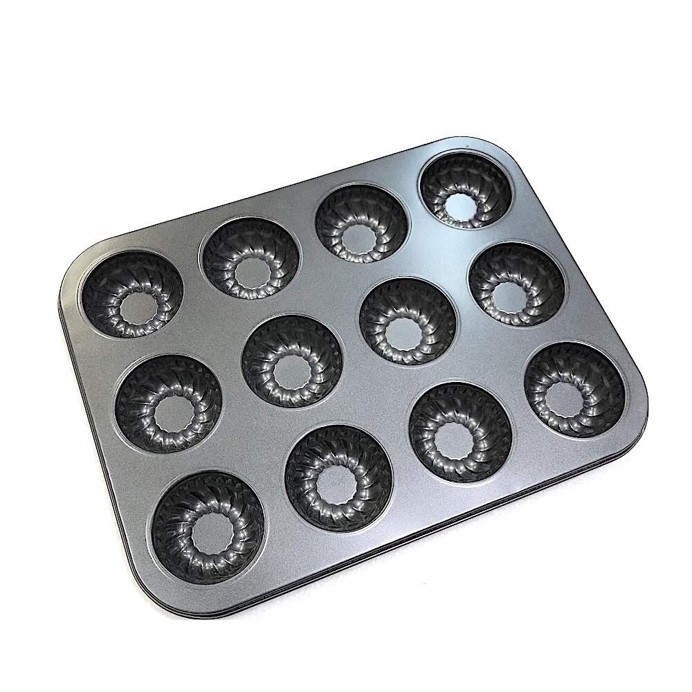 Форма для выпечки металлическая антипригарная | 12 кексов - Бисквиты
