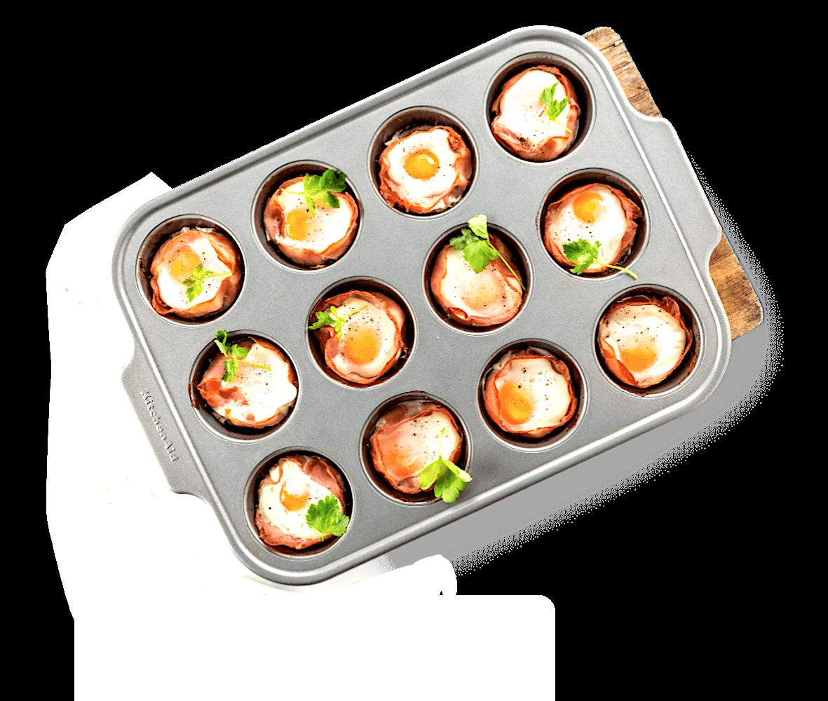 Форма для выпечки металлическая антипригарная | 12 кексов - kitchen aid