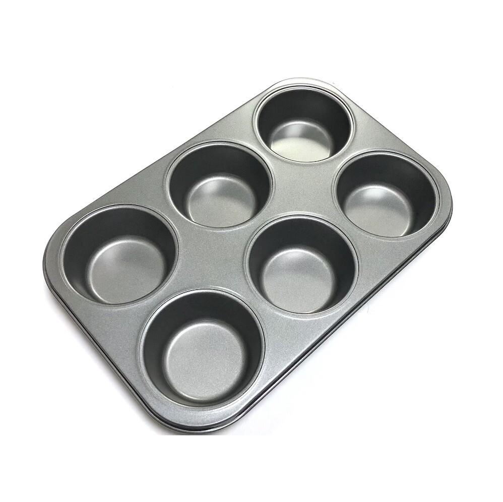 Форма для выпечки металлическая антипригарная   6 кексов - Большая ячейка