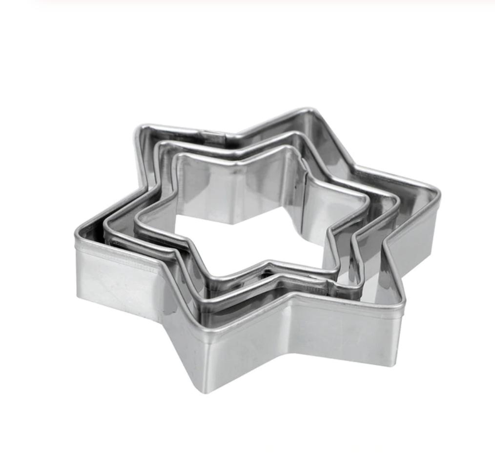 Вырубка стальная Звёзды ∅ 5-8 см | Набор 5 фигур
