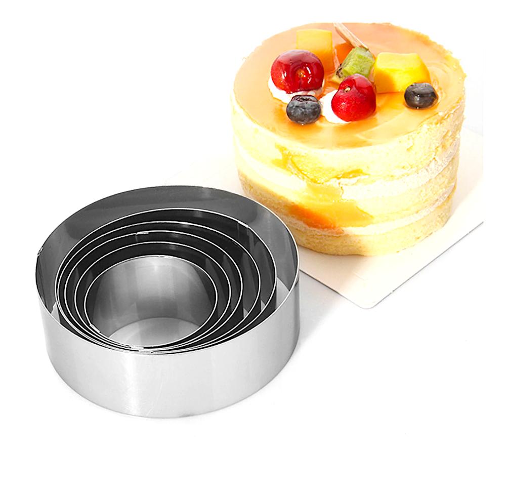 Формы для выпечки стальные Набор 6 шт | мини Кольца (70,80,90,100,110,120 мм, высота 55 мм)