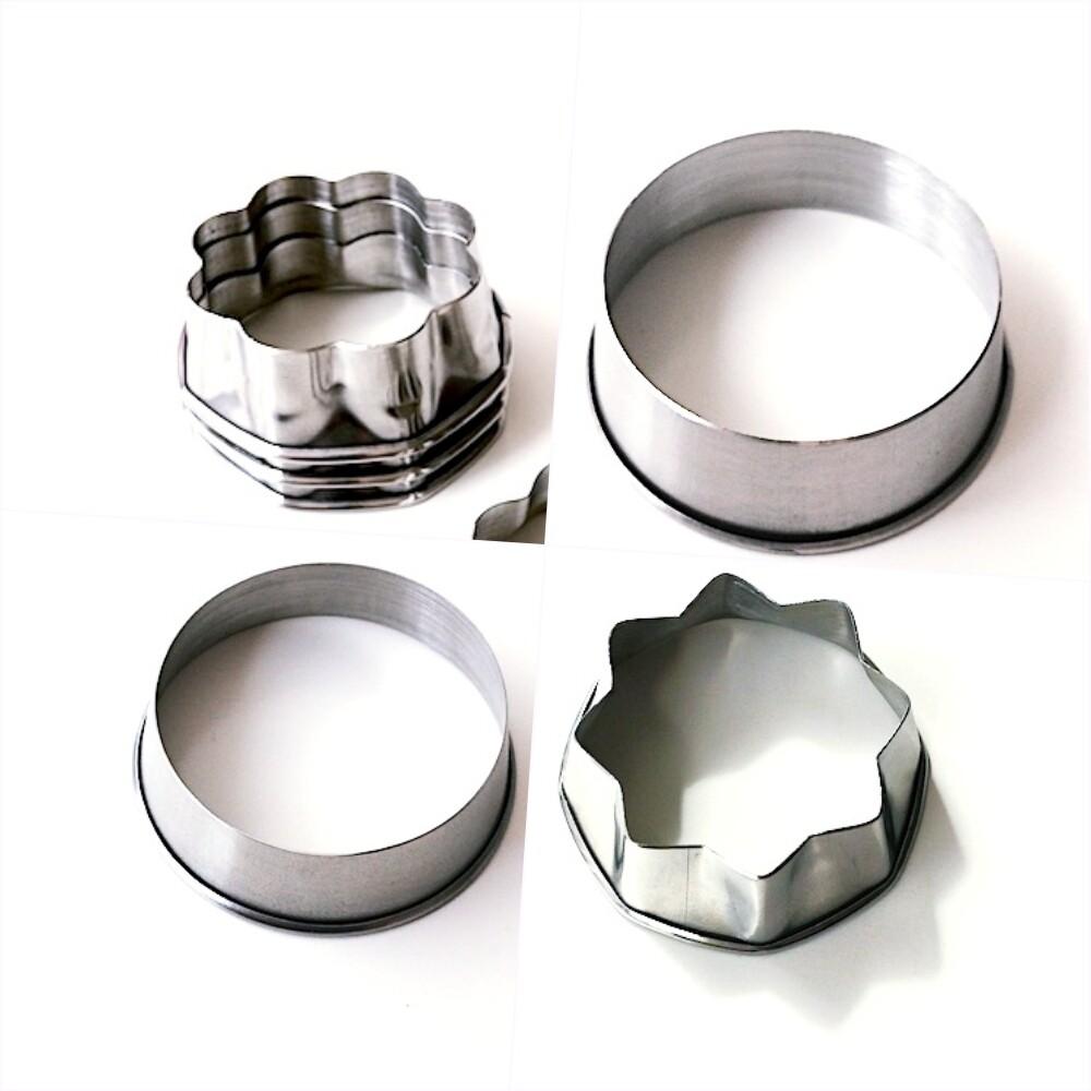 Вырубка стальная Набор 4 шт: Ромашка, Кольцо, Звезда (Мастерская Тюльпан)