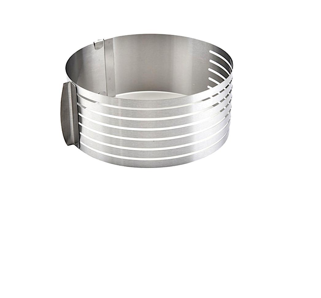 Форма для выпечки металлическая раздвижная   Кольцо 24-30 см, высота 8 см (6 коржей)