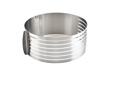 Форма для выпечки металлическая раздвижная | Кольцо 24-30 см, высота 8 см (6 коржей)